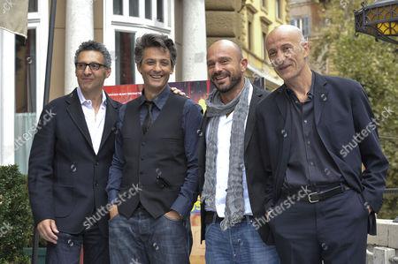 Director John Turturro, Rosario Fiorello, Raiz and Peppe Servillo