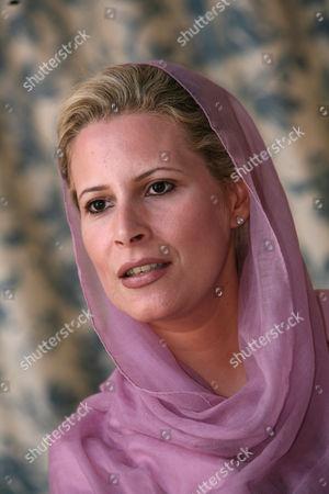 Editorial image of Ayesha al-Gaddafi, daughter of Libyan leader Muammar al-Gaddafi, at her home in Tripoli, Libya - 05 Oct 2010