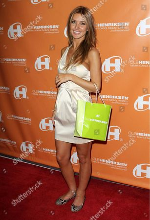 Editorial image of Audrina Patridge and Tony Dovolani at a gifting suite, Los Angeles, America - 10 Oct 2010