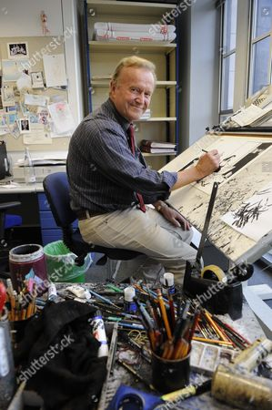 Editorial picture of Cartoonist 'MAC', Stan McMurtry at work in his studio at The Daily Mail, London, Britain - Oct 2010