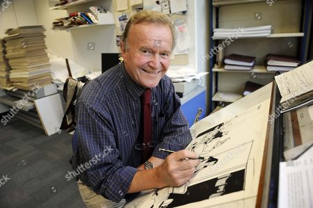 Editorial photo of Cartoonist 'MAC', Stan McMurtry at work in his studio at The Daily Mail, London, Britain - Oct 2010