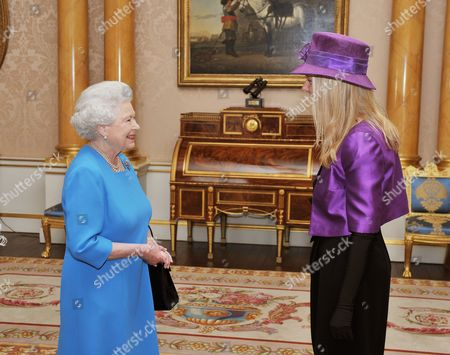 Queen Elizabeth II with Her Excellency the Ambassador of Sweden Ms Nicola Clase, before she presented her credentials during a private audience