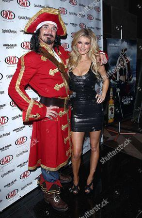 Marissa Miller and Captain Morgan