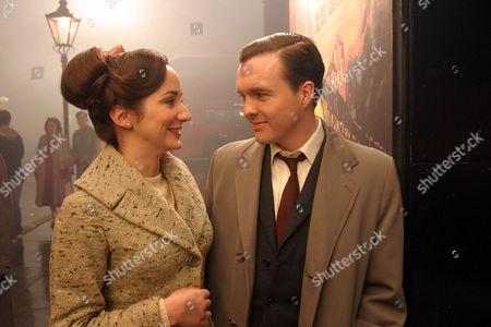 Picture Shows: Caldicott (Ciaran Mcmenamin) and Angela (Lydia Leonard)