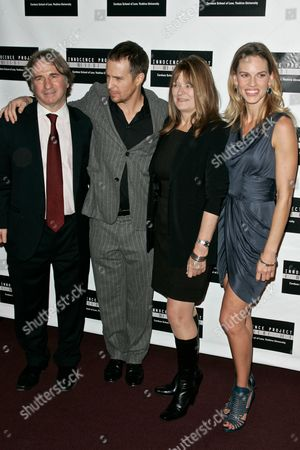 Barry Scheck, Sam Rockwell, Betty Anne Waters and Hilary Swank