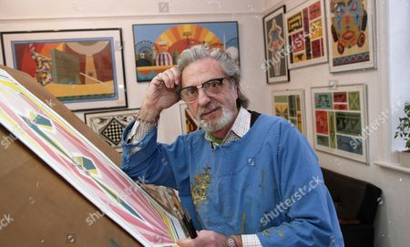 Editorial image of Des Rayner at home in London, Britain - 03 Mar 1999