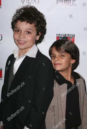Stock Image of Cameron Ocasio and Aiden Eyrick