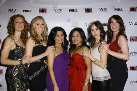 Stock Photo of Nadia Quinn, Kate Cullen Roberts, Maria Elena Ramirez, Maria Christina Oliveras, Emily Young and Kristine Nielsen