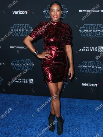 Aisha Tyler arrives at the World Premiere Of Disney's 'Star Wars: The Rise Of Skywalker' held at the El Capitan Theatre on December 16, 2019 in Hollywood, Los Angeles, California, United States.