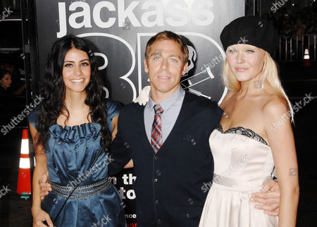 Dave England (C) and guests