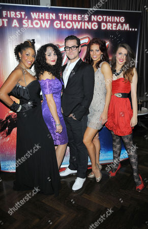Stock Photo of Hannah Levane, Victoria Hamilton-Barritt, Matt Willis, Twinnielee Moore, Charlotte Harwood