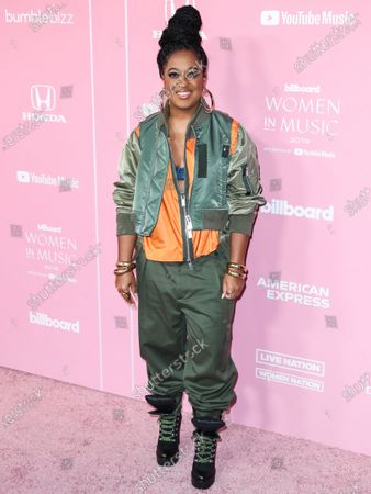 Rapsody arrives at the 2019 Billboard Women In Music Presented By YouTube Music held at the Hollywood Palladium on December 12, 2019 in Hollywood, Los Angeles, California, United States.