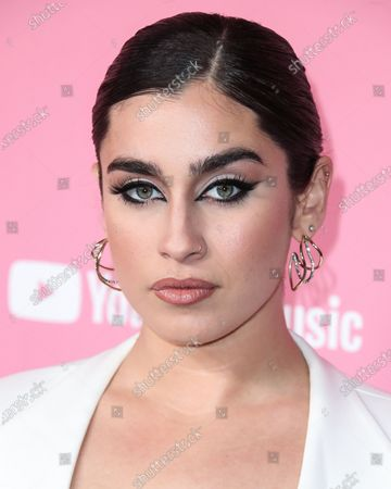 Stock Image of Singer Lauren Jauregui arrives at the 2019 Billboard Women In Music Presented By YouTube Music held at the Hollywood Palladium on December 12, 2019 in Hollywood, Los Angeles, California, United States.