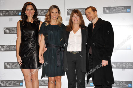 Minnie Driver, Hilary Swank, Betty Anne Waters and Sam Rockwell