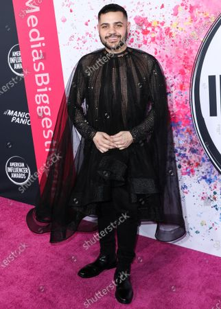 Michael Costello arrives at the 2nd Annual American Influencer Awards 2019 held at the Dolby Theatre on November 18, 2019 in Hollywood, Los Angeles, California, United States.