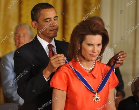 Editorial image of President Obama presents the Presidential Medal of Freedom to Nancy Brinker in Washington, District of Columbia - 12 Aug 2009
