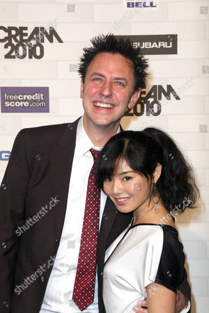 Stock Photo of James Gunn and Mia Matsumiya