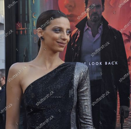 """Stock Picture of Angela Sarafyan, a cast member in the sci-fi motion picture thriller """"Reminiscence"""" attends the premiere of the film at the TCL Chinese Theatre in the Hollywood section of Los Angeles on Tuesday, August 17, 2021. Storyline: Nick Bannister, a private investigator of the mind, navigates the alluring world of the past when his life is changed by new client Mae. A simple case becomes an obsession after she disappears and he fights to learn the truth about her."""