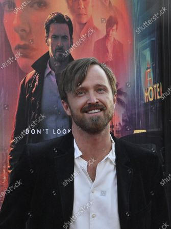 """Actor Aaron Paul attends the premiere of the sci-fi motion picture thriller """"Reminiscence"""" at the TCL Chinese Theatre in the Hollywood section of Los Angeles on Tuesday, August 17, 2021. Storyline: Nick Bannister, a private investigator of the mind, navigates the alluring world of the past when his life is changed by new client Mae. A simple case becomes an obsession after she disappears and he fights to learn the truth about her."""