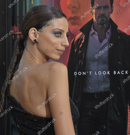 """Angela Sarafyan, a cast member in the sci-fi motion picture thriller """"Reminiscence"""" attends the premiere of the film at the TCL Chinese Theatre in the Hollywood section of Los Angeles on Tuesday, August 17, 2021. Storyline: Nick Bannister, a private investigator of the mind, navigates the alluring world of the past when his life is changed by new client Mae. A simple case becomes an obsession after she disappears and he fights to learn the truth about her."""