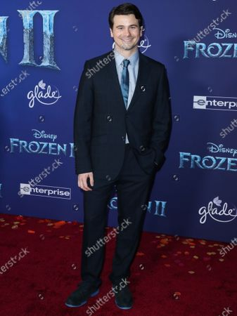 Jason Ritter arrives at the World Premiere Of Disney's 'Frozen 2' held at the Dolby Theatre on November 7, 2019 in Hollywood, Los Angeles, California, United States.