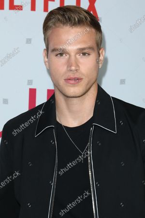 Actor Matthew Noszka arrives at the Los Angeles Premiere Of Netflix's 'Let It Snow' held at Pacific Theatres at The Grove on November 4, 2019 in Los Angeles, California, United States.