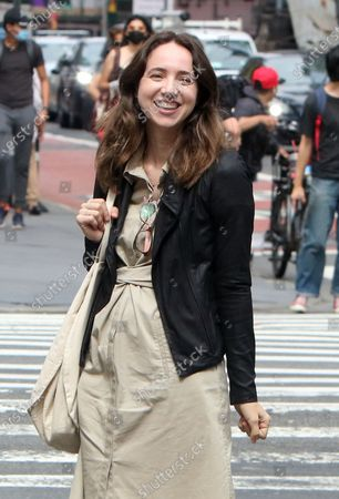 Stock Image of Zoe Kazan on the set of She Said on August 17, 2021 in New York City.