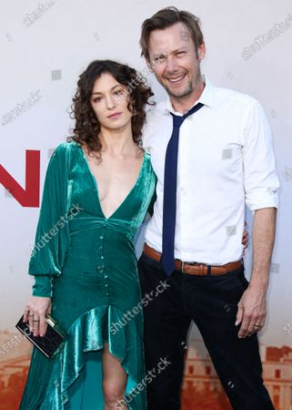 Actress Sophia Del Pizzo and actor Jimmi Simpson arrive at the Los Angeles Premiere Of Lionsgate's 'Angel Has Fallen' held at the Regency Village Theatre on August 20, 2019 in Westwood, Los Angeles, California, United States.