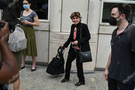 Gloria Allred arrives at the trial of Robert Sylvester Kelly, accused of sex trafficking and racketeering, at Brooklyn's federal court in New York.
