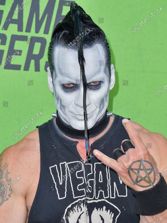 Stock Image of Doyle Wolfgang von Frankenstein arrives at the Los Angeles Premiere Of 'The Game Changers' held at ArcLight Cinemas Hollywood on September 5, 2019 in Hollywood, Los Angeles, California, United States.