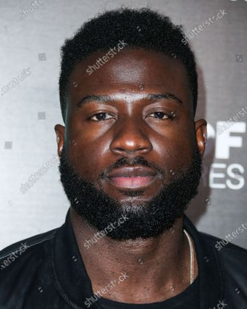 Actor Sinqua Walls arrives at the Los Angeles Premiere Of Vertical Entertainment's 'Can You Keep A Secret?' held at ArcLight Cinemas Hollywood on August 28, 2019 in Hollywood, Los Angeles, California, United States.
