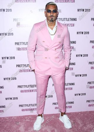 Stock Picture of Umar Kamani arrives at PrettyLittleThing x Saweetie during New York Fashion Week: The Shows held at The Plaza Hotel on September 8, 2019 in Manhattan, New York City, New York, United States.