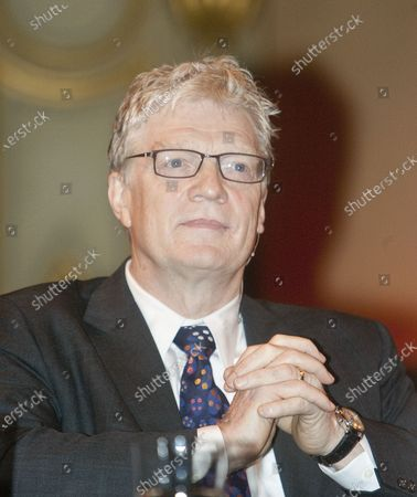 Sir Ken Robinson participates in a morning panel discussion during the 2009 Vancouver Peace Summit at the Orpheum Theater in Vancouver, British Columbia, September 29, 2009.