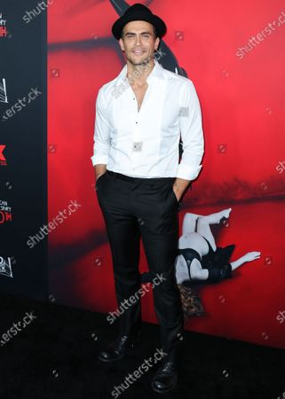 Actor Cheyenne Jackson arrives at FX's 'American Horror Story' 100th Episode Celebration held at the Hollywood Forever Cemetery on October 26, 2019 in Hollywood, Los Angeles, California, United States.