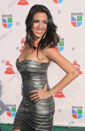 Maria Teresa Interiano arrives at the 10th annual Latin Grammy Awards in Las Vegas, Nevada on November 5, 2009.