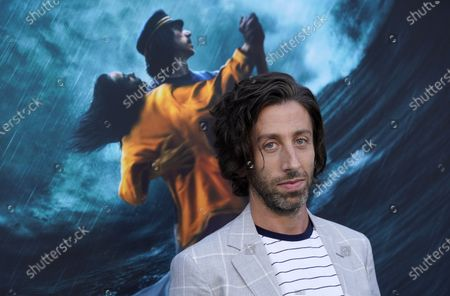 """Simon Helberg, a cast member in """"Annette,"""" poses before a special screening of the film at the Hollywood Forever Cemetery, in Los Angeles"""