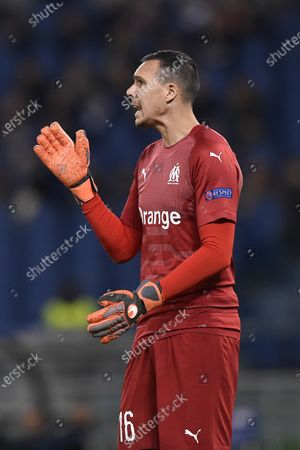 Yohann Pele of Olimpique de Marseille during the UEFA Europa League Group Stage match between Lazio and Olympique de Marseille at Stadio Olimpico, Rome, Italy on 8 November 2018.