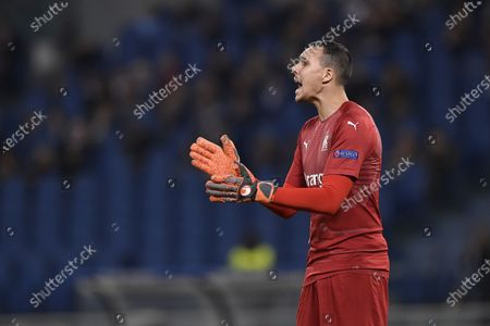 Stock Picture of Yohann Pele of Olimpique de Marseille during the UEFA Europa League Group Stage match between Lazio and Olympique de Marseille at Stadio Olimpico, Rome, Italy on 8 November 2018.
