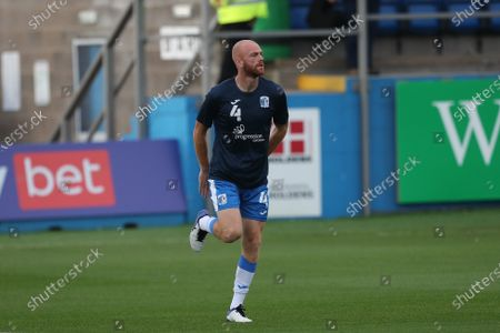 Jason Taylor of Barrow during the Sky Bet League 2 match between Barrow and Exeter City at Holker Street, Barrow-in-Furness on Tuesday 17th August 2021.