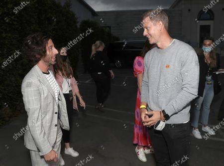 """Simon Helberg and Co-Head of Movies at Amazon Studios Matt Newman attend Amazon Studios """"Annette"""" Los Angeles Premiere on Wed Aug 18, 2021 in Los Angeles."""