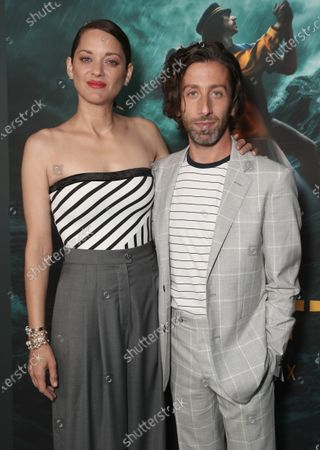 """Marion Cotillard and Simon Helberg attend Amazon Studios """"Annette"""" Los Angeles Premiere on Wed Aug 18, 2021 in Los Angeles."""