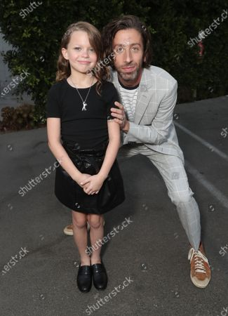 """Devyn McDowell and Simon Helberg attend Amazon Studios """"Annette"""" Los Angeles Premiere on Wed Aug 18, 2021 in Los Angeles."""