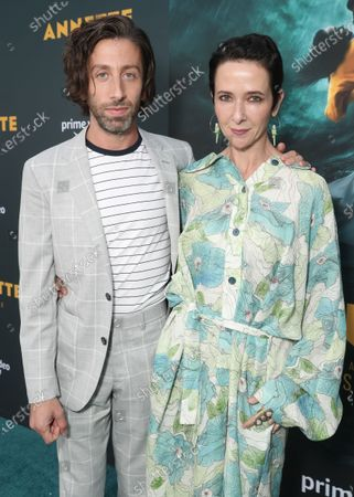 """Simon Helberg and Jocelyn Towne attend Amazon Studios """"Annette"""" Los Angeles Premiere on Wed Aug 18, 2021 in Los Angeles."""