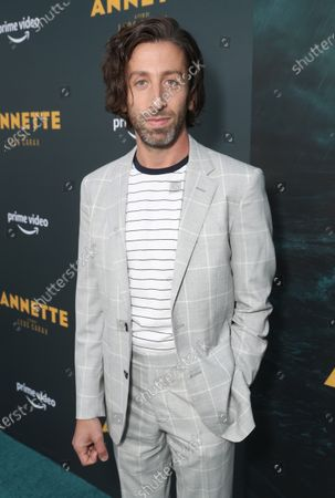 """Simon Helberg attends Amazon Studios """"Annette"""" Los Angeles Premiere on Wed Aug 18, 2021 in Los Angeles."""