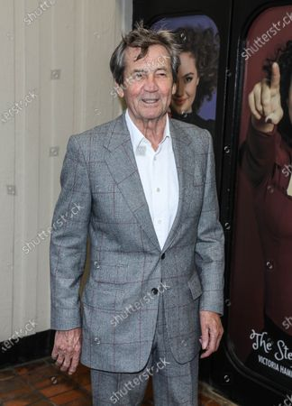Melvyn Bragg arrives for the 'Cinderella' musical press night at the Gillian Lynne Theatre in London.
