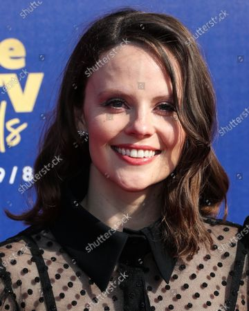 SANTA MONICA, LOS ANGELES, CALIFORNIA, USA - JUNE 15: Sarah Ramos arrives at the 2019 MTV Movie And TV Awards held at Barker Hangar on June 15, 2019 in Santa Monica, Los Angeles, California, United States.