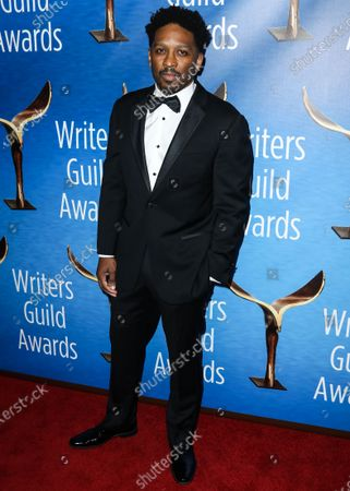 Screenwriter Joe Robert Cole arrives at the 2019 Writers Guild Awards L.A. Ceremony held at The Beverly Hilton Hotel on February 17, 2019 in Beverly Hills, Los Angeles, California, United States.
