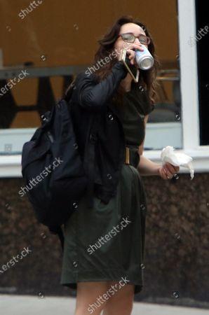 Editorial photo of 'She Said' on set filming, New York, USA - 19 Aug 2021