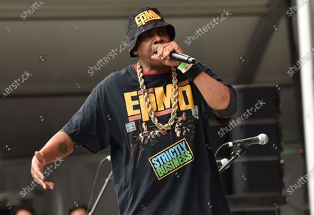 EPMD perform at the NYC Homecoming concert at Forest Hills Stadium in Queens, New York City.
