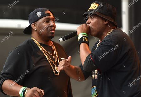 Stock Image of EPMD perform at the NYC Homecoming concert at Forest Hills Stadium in Queens, New York City.